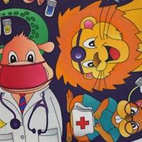 Röntgenschürze - Farbe Medical Animals