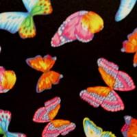 Röntgenschürze - Farbe Black Butterflies
