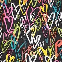 Röntgenschürze - Farbe Crazy Hearts Black