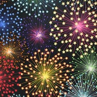 Röntgenschürze - Farbe Fireworks